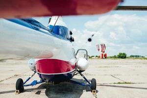 hélicoptère sur le site de décollage photo