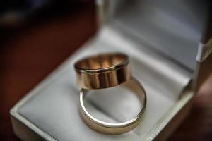 bague de mariage sur la table photo