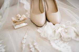 chaussures de mariage de la mariée, belle mode photo
