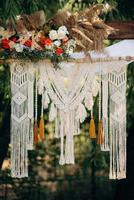 zone de cérémonie de mariage photo