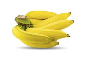 tas de bananes jaunes mûres isolées photo