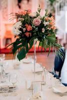 décor de fleurs de mariage photo