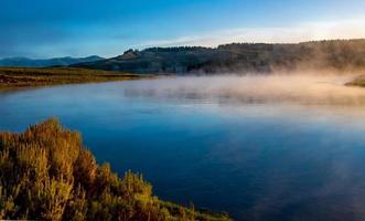 vallée de Hayden et rivière Yellowstone, parc national de Yellowstone photo