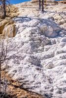 terrasses en travertin, sources chaudes gigantesques, yellowstone photo