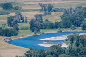 Rivières dans le parc national de Yellowstone au Wyoming photo