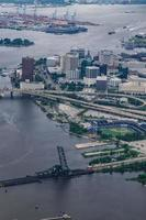 Norfolk Virginie aérienne de la ville et ses environs photo