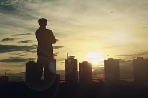 silhouette d'homme d'affaires photo