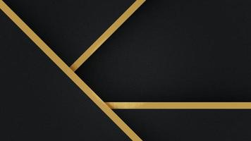 fond de triangle noir modèle abstrait avec des lignes rayées dorées. style de luxe. pour l'annonce, l'affiche, le modèle, la présentation d'entreprise. photo