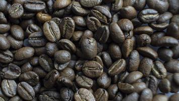 gros plan, torréfié, grains café photo