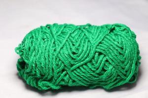 gros plan de fil de couleur verte à vendre photo