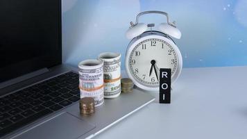 concept de retour sur investissement photo