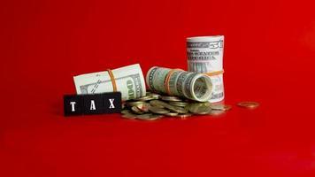 réduction d'impôt réduire le concept de paiement photo