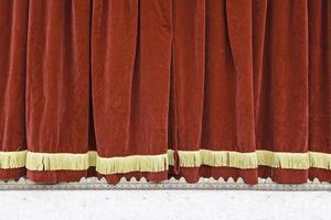 rideau de théâtre rouge photo