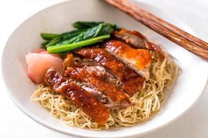 nouilles de canard rôties - style cuisine asiatique photo