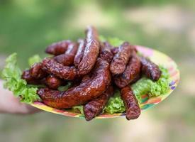saucisses grillées barbecue photo
