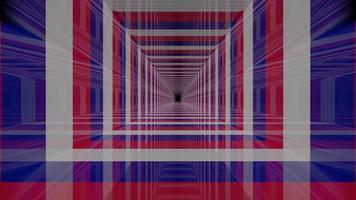 illustration 3d de tunnel rayé 4k uhd photo