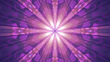 tunnel abstrait illuminé avec des poutres illustration 3d uhd 4k photo