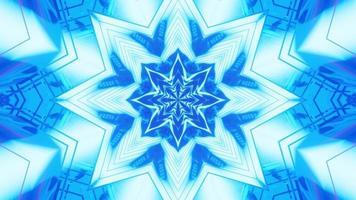 ornement abstrait bleu vif 4k uhd illustration 3d photo