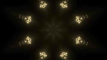lumières dorées brillantes dans l'obscurité illustration 3d 4k uhd photo