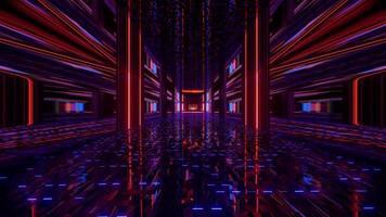 illustration 3d de tunnel sombre symétrique 4k uhd photo