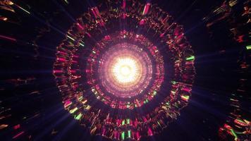 tunnel de cristal coloré 4k uhd illustration 3d photo