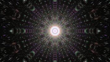 tunnel abstrait avec éclairage coloré 4k uhd illustration 3d photo