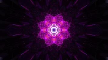ornement en forme d'étoile à l'intérieur du tunnel sombre illustration 3d uhd 4k photo