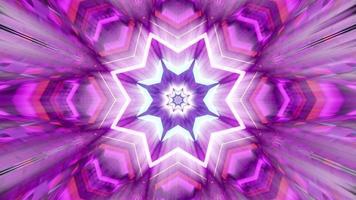 tunnel en forme d'étoile avec néon illustration 3d uhd 4k photo