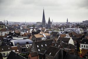 vue panoramique sur la ville de gand photo
