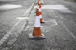 cônes de signalisation routière photo