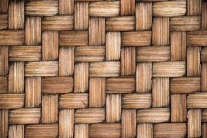 fermé de fond de texture de tissage en bois de couleur marron photo