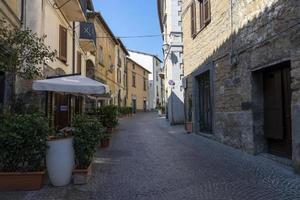 bâtiments dans le centre d'orvieto, italie, 2020 photo