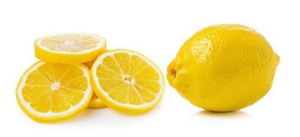 citron sur fond blanc photo