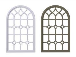 ensemble de fenêtre gothique classique en bois photo