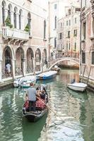 canal traditionnel de venise depuis l'un des plus beaux points de vue photo