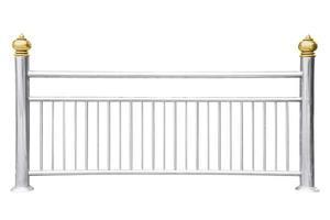 garde-corps en acier inoxydable isolé sur blanc. photo