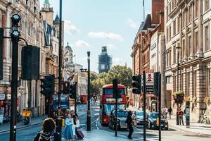 Londres - Royaume-Uni, Trafalgar Square, 1er septembre 2019. Trafalgar Square est un espace public et une attraction touristique du centre de Londres. photo