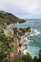 la côte de la riviera italienne photo