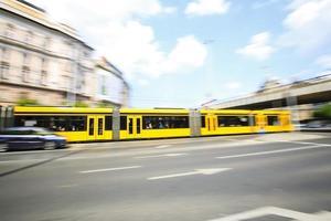 transports de la ville de budapest photo