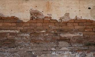 Vieux mur de briques grungy fond texture béton photo