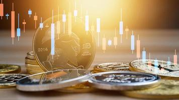 bitcoin d'affaires avec graphique photo