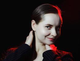 portrait d'une jeune belle fille photo