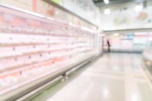 flou abstrait en supermarché pour le fond photo