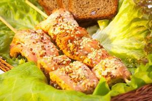 kebab de poulet sain photo