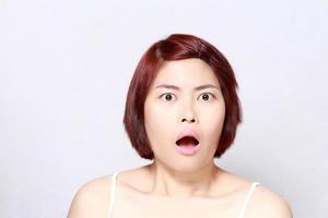 visage de femme de beauté photo