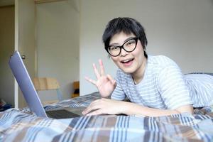 se détendre homme asiatique photo