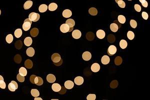 guirlandes lumineuses défocalisés photo