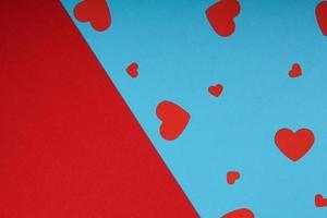 composition du cadre de la maquette avec forme de coeur en papier d'artisanat photo