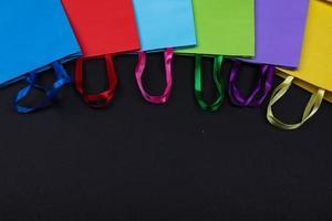 sac à provisions coloré en fond de papier photo