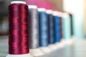 fond de fils à coudre multicolore photo